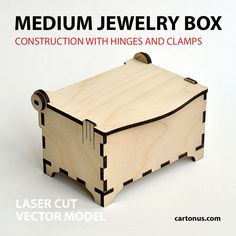 Wooden jewelry box with hinges and clamps. Medium1 by cartonus.deviantart.com on @DeviantArt