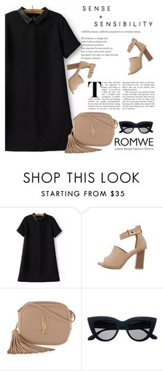"""""""Romwe contest"""" by amrafashion ❤ liked on Polyvore featuring Yves Saint Laurent"""