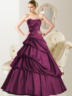 ballgown Buy Superb Taffeta Strapless Ball Gown Party Gown $142.99