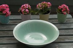 Beryl Green Large Bowl by Wood's Ware. by AtticBazaar on Etsy Kitchenware, Tableware, Large Bowl, Shades Of Green, 1940s, Woods, British, Pottery, Colours