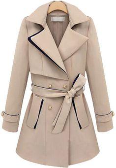 Khaki Coat with Belt
