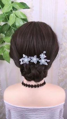 Bun Hairstyles For Long Hair, Braided Hairstyles Updo, Hairstyle Braid, Beautiful Hairstyles, Party Hairstyles, Latest Hairstyles, Buisness Hairstyles, Natural Hairstyles, Long Hair Easy Updo