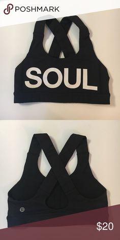 SOULCYCLE black SOUL sports bra SOULCYCLE black SOUL sports bra lululemon athletica Intimates & Sleepwear Bras