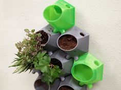 Wallony Vertical Planters by UptonAK - Thingiverse