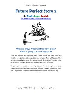 Printable short story and worksheets to practice the English Future Perfect Tense!