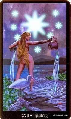 XVII - L'étoile - Tarot sorcières par Ellen Dugan & Mark Evans