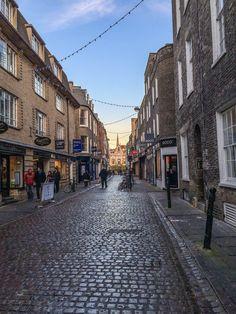 POINT | the cobblestone streets of Cambridge, England