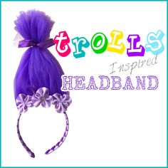 I heart Trolls! This DIY Troll headband by Danielle at Korker Krazy is over-the-top fun!  Make your own in almost any color combination with the large selection of tulle at the HairBow Center. Find the tutorial on our blog.