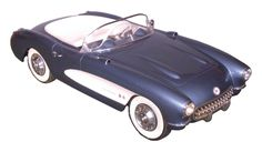 This 1957 Chevy Corvette Pedal Car is one of 100 models produced for the