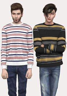 Stripped Sweater by spectacledchic-sims4