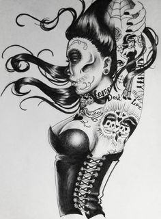 Dead, sexy, pin up girl ! zombie + pin up = Tattoo Girls, Pin Up Girl Tattoo, Pin Up Tattoos, Love Tattoos, Zombie Girl Tattoos, Tatoos, Arm Tattoos, Skull Tattoos, Zombie Pin Up