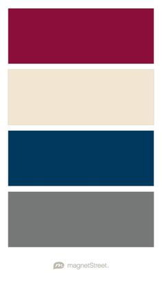 Burgundy, Champagne, Navy, and Charcoal Wedding Color Palette - custom color palette created at MagnetStreet.com