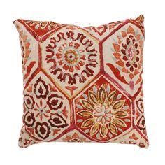 Summer Breeze 16.5-inch Throw Pillow in Crimson | Overstock.com