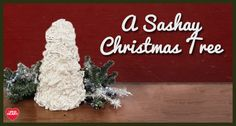 Crochet a ruffle with Boutique Sashay Sequins and fasten it around a cone to make a quick-and-easy Christmas tree.