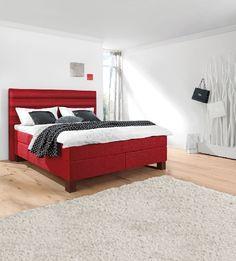 bugatti Bett BRONZE Stoffbezug Rot #Schlafzimmer #Schlafzimmerideen ...