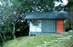 200 sq ft studio with loft designed by Riley Mcferrin of Hinterland Design in British Columbia