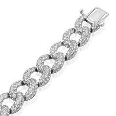 Jewelili Sterling Silver Link Bracele... (bestseller)