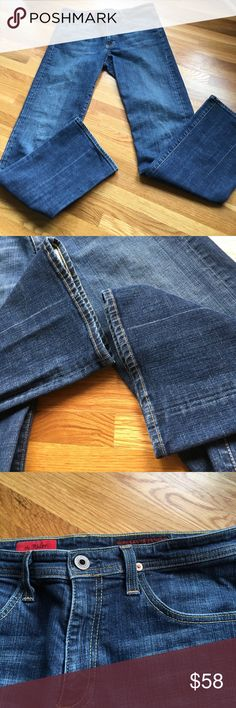 """Adriano Goldschmied Jegging Feel Jeans Sz 29 Reg Excellent used condition! These have so much flattering stretch  - as much stretch as any jegging pair. I can't see act visible wear on these. Inseam 31.5"""". Front rise 8.5"""".  Back rise 11.5"""". Leg opening 9"""". AG Adriano Goldschmied Jeans Boot Cut"""