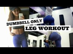 DUMBBELL ONLY Leg Workout | No Machines - YouTube