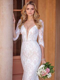 a277502e Casablanca Bridal Style 2331 Ainsley V Neck Wedding Dress, Bridal Wedding  Dresses, Mod Wedding