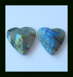 Faceted Labradorite Heart Shape Cabochons,55 Cts  labradorite gemstone, pair labradorite