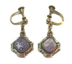 Pentti Sarpaneva Finland - Beautiful Vintage Bronze Earrings w Amethyst - Signed | eBay