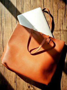 Oversized Tote Bag - Burnt Orange