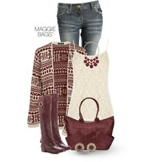 Tribal Cardigan, created by maggiebags on Polyvore