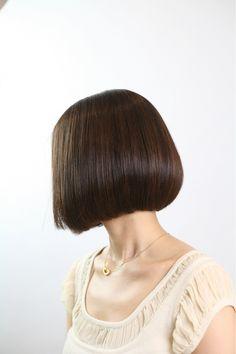 Classical one-length | Beauty salons afeel of hair style around Kawaramachi | Rasysa and (Rashi)