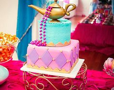 Shimmer and shine party supplies google search parker for Arabian cake decoration