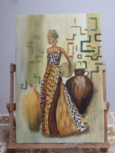 African Drawings, African Art Paintings, Clay Wall Art, African Theme, Black Art Pictures, Black Love Art, Art Drawings Beautiful, Art Africain, Africa Art