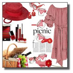 """""""Picnic"""" by marionmeyer on Polyvore featuring Mode, Chanel, Gucci, L'Oréal Paris, NYX, Kevyn Aucoin und picnic"""