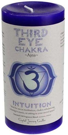 Third Eye Chakra Pillar Candle 3 X 6