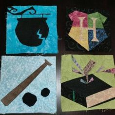 More Harry Potter quilt blocks. Someone make me this please! I have no idea how to do anything like this!