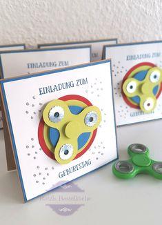 """Spinner Einladungskarte (nicht nur) zum Kindergeburtstag. Stampin´Up """"so viele Jahre"""""""
