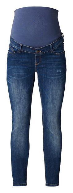 NOPPIES Slim Umstandsjeans »Mila« für 79,99€. Umstandsjeans Mila von Noppies, Slim Fit, Medium-Waschung, Jersey-Bauchband, verstellbare Bundweite bei OTTO