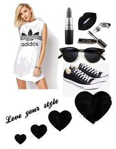 """Casual n comfortable!"" by marymmgg on Polyvore featuring adidas, Converse, MAC Cosmetics, Bobbi Brown Cosmetics and Lime Crime"