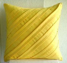 Contemporary Yellow - 16x16 Inches Decorative Pillow Covers In Yellow Suede by The HomeCentric, http://www.amazon.com/dp/B004ZV0Y3I/ref=cm_sw_r_pi_dp_KNSRpb1C902KP