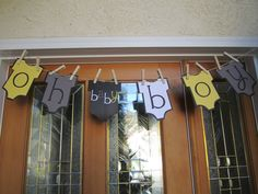 ben's baby shower, door decor #babyshower #baby