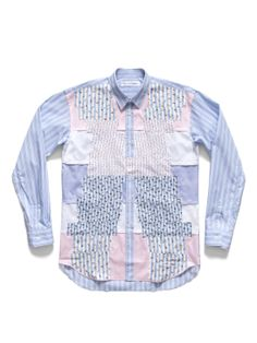 This Comme des Garcons Stripe and Floral Patchwork Shirt is cray-cray! Comme Des Garcons, Photo Sessions, Menswear, Shirt Dress, Cray Cray, Floral, Mens Tops, Shirts, Fashion