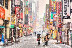 Kabukicho Snow by tokyofashion on Flickr.Via Flickr: Went out and tried to destroy my 5D Mark II during the snow storm earlier this week in Tokyo. This is a shot of Kabukicho, as you can probably guess by the signage.