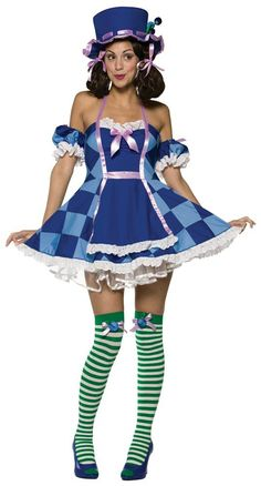 Womens Sexy Blueberry Hatter Costume Strawberry Shortcake Costumes - Mr. Costumes