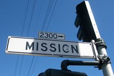 Mission Street is San Francisco's longest street, running miles from from the city's southern border to its northeast corner. The street and the Mission District, which it runs through, were named for the Spanish Mission Dolores. San Francisco Travel, San Francisco Giants, California Missions, Mission District, San Fernando Valley, Best Cities, My Heart Is Breaking, Northern California, City Photo