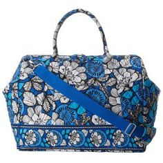 Sales Vera Bradley Luggage - Frame Travel Bag (Blue Bayou) - Bags and Luggage price - Zappos is proud to offer the Vera Bradley Luggage - Frame Travel Bag (Blue Bayou) - Bags and Luggage: For light packing and adorable carry-on quality keep the Frame Travel Bag on hand for any and all your travel needs!