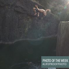 "Congratulations to Ben Plunkett, our #LifeProofPhoto Photo of the Week Winner for his photo submission named,""Cliff Jumping Selfie with my #LifeProof."""