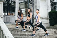 The Come Up founders Lunar Oniyari, Marina Mansour and Alya Mooro in adidas.