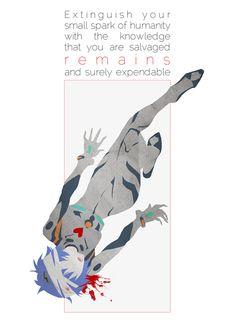 Evangelion Tragedy series: Rei Shinji Kaworu Asuka