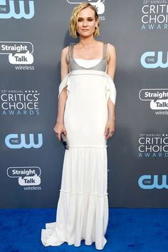 All the Gorgeous 2018 Critics' Choice Awards Red Carpet Arrivals - Diane Kruger from InStyle.com