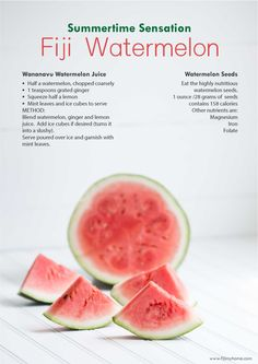 Fiji super sweet watermelons, just the thing you need in summer. www.fijimyhome.com