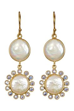 18K Yellow Gold Plated Sterling Silver 12-13mm Freshwater Pearl